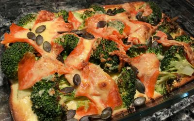 Broccoli-Lachs-Gratin